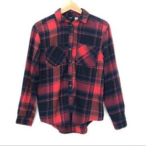 Urban Outfitters Red Buttondown Plaid Flannel